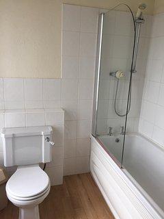 Modern bathroom with shower and bath