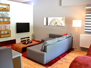 Le salon avec télévision et accès Wi-Fi
