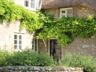 16th century thatched cottage in  Mells, one of the best villages in Somerset