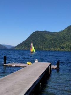 A perfect sailing lake.