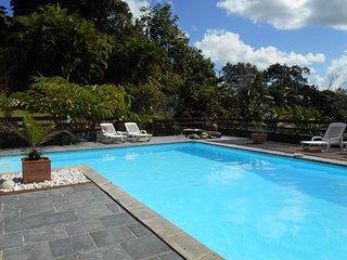 Gite de charme  4 pers au coeur d'une ancienne maison creole vue piscine