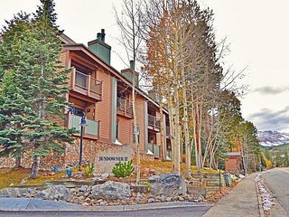 2BR/2.5BA Cozy Breckenridge Condo with Hot Tub–Walk to Snowflake Chairlift