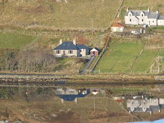 Detached spacious Isle of Lewis cottage in tranquil position with loch view.
