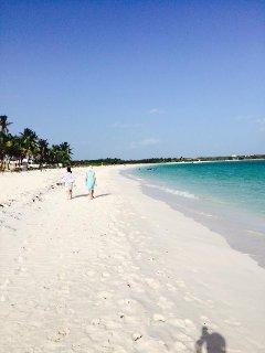 Enjoy your morning walk on Rendezvous Bay  Beach