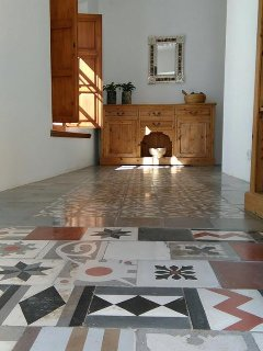 Entrance to Casa Aurora, reclaimed vintage tiles