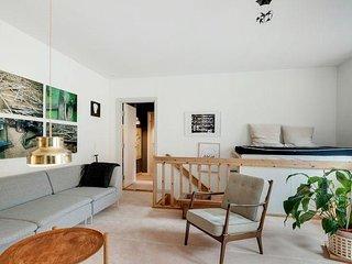 Two level Copenhagen apartment at Noerreport station