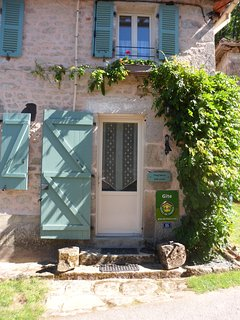 The front door, entrance to the gîte 'Chez Marie'