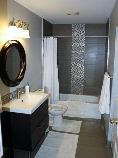 Newly renovate four piece bathroom
