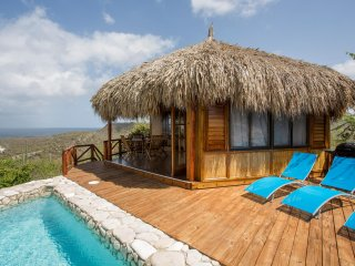 Breezy Caribbean palapa lodge with private pool