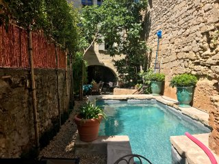 Provence:  Uzes, Near Place Aux Herbes, Apartment with Pool, 16th c Home,Sleeps