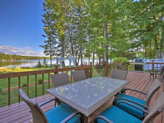 Lakefront Interlochen Home w/Deck, Fire Pit & Dock
