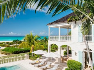 Classic elegant plantation manor at Grace bay beach