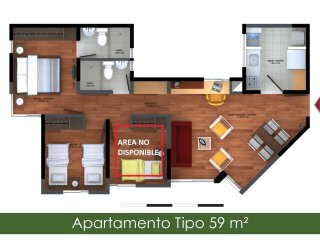 Apartment complete- West of Bogota