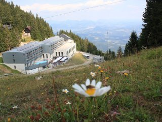 Mountain hotel for hikers, bikers, skiers and romantic couples