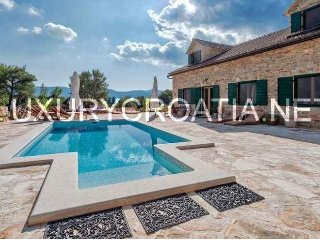Rustic stone villa with pool in Stari Grad, Hvar island