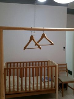 the wooden baby cot may be provided upon request