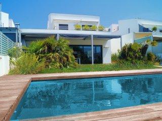 New luxury mediterranean villa with mooring