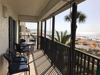 Kima 101 Gulf Front Condo in Madeira Beach with Cabana
