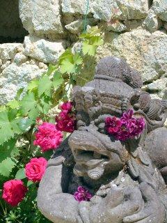 Bali Poolside Statues
