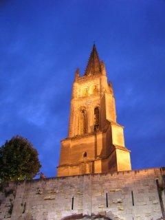 Saint Emilion Tower from our favourite restaurant