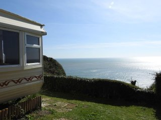 Sea views from Mobile Home, Branscombe