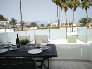 Fully renovated 1 bedroom apartment with ocean view and 2 terraces.