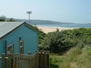 Riviera Towans beachfront traditional chalet overlooking St Ives Bay