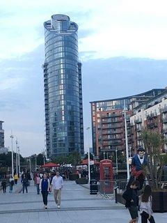 The premier apartment block in Portsmouth. No 1 Gunwharf Quays.