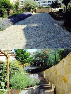 landscaped pathways