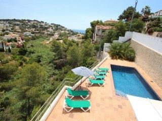 Elena Baladrar - sea view villa with private pool in Benissa