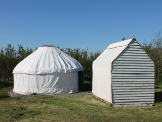 Beautiful yurt 2 on a secluded, coastal site