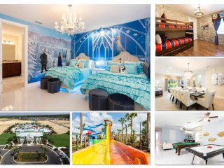 Luxury 7BD/7BA Villa in Encore Waterpark with Private Pool, Game Room & Theme