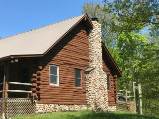 Hand cured log cabin house