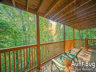 Amazing 2 Bedroom Cabin with Jacuzzi & Hot Tub out Light 10 in Pigeon Forge