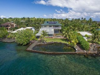 Large, Luxurious Oceanfront Home in Kapoho ~ Turtle Cove ~ Sleeps 10