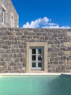 Backyard pool area