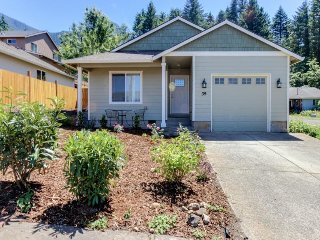 Modern Columbia Gorge getaway near Pacific Crest Trail w/ great patio & grill!