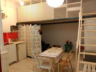 estudio bohemio en el centro de Madrid