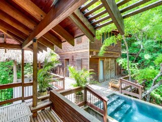 Oceanfront luxury suite and treehouse - w/ private pool and beach access