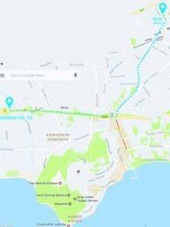 Carte de la gare routière à notre place.