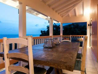 Ocean view villa with private pool, palapa terraces, renovated 2017 guarded .