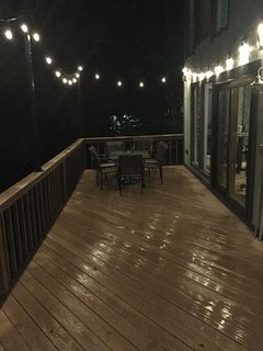 Evening view of deck.