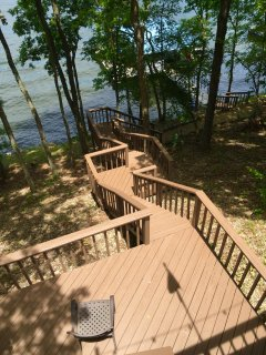 View from upper deck to lake.
