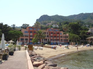 apartment on beach with view of Cannes and alps