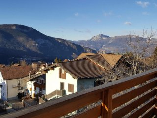 House with 3 rooms in Folgaria, with wonderful mountain view, balcony and WiFi