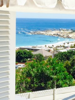View of camps bay beach from deck