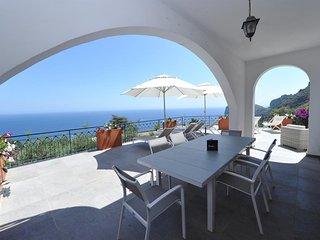 Villa avec piscine et vue mer panoramique à Nerano