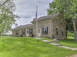 Ottawa Lake Home on 96 Acres w/Deck&Restored Barn!