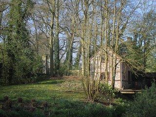 Uniek molenhuisje in park, gelegen naast een beek