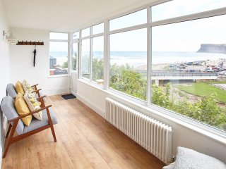 Stunning views from the sunroom over Saltburn Beach